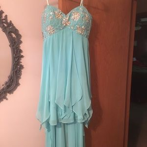 High lo strapless Prom dress. Size 10.